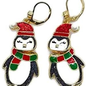 Betsey johnson penguin earrings